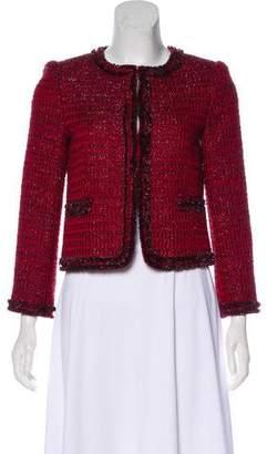 Alice + Olivia Metallic Tweed Jacket