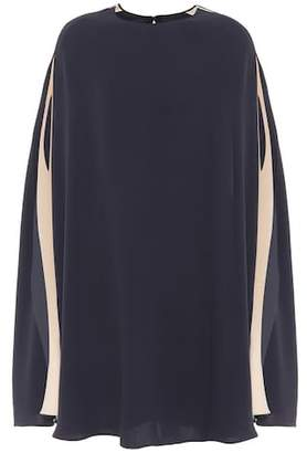 Valentino Silk crêpe de chine cape dress