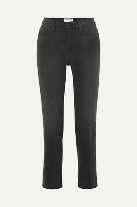 Frame Le Nouveau High-rise Straight-leg Jeans - Charcoal