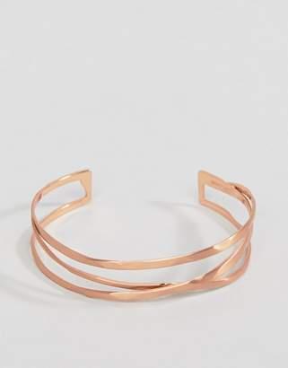 Pilgrim rose gold plated chunky bracelet