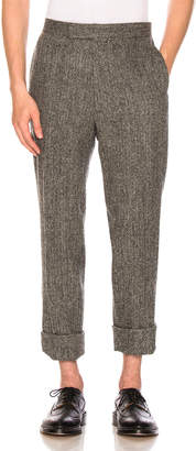 Thom Browne Classic Backstrap Herringbone Tweed Trousers