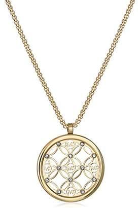 Michael Kors Open Monogram Disc Pendant Necklace