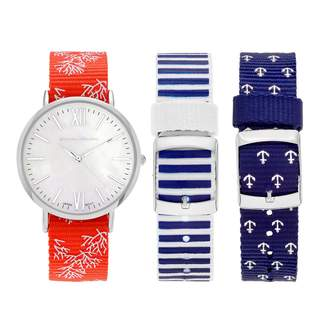 Journee Collection Women's Watch & Interchangeable Band Set