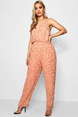 boohoo Plus Boutique Sequin Embellished Jumpsuit