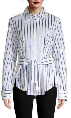 Derek Lam Tie-Front Button-Down Shirt