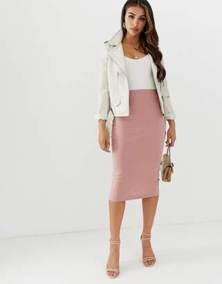 b2b56cf6f5e615 Asos Design DESIGN high waisted longerline pencil skirt