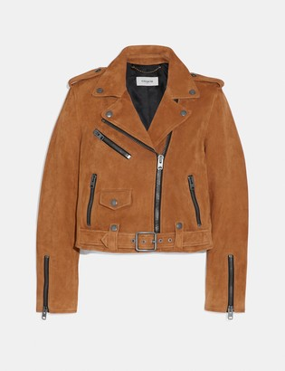 Coach Suede Mini Biker Jacket