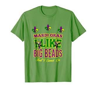 Funny Mardi Gras Carnaval Clown T Shirt : I Like Big Beads