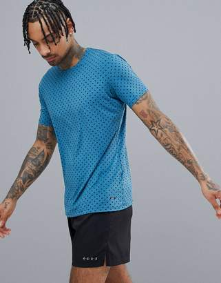 Craft Running Essential T-Shirt In Blue With Pyramid Print 1906052-123657