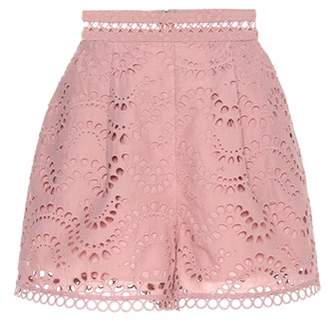 Zimmermann Exclusive to mytheresa.com – embroidered cotton voile shorts