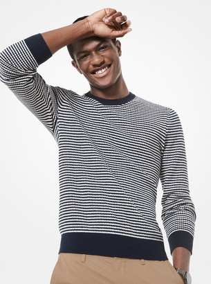 Michael Kors Zig-Zag Stripe Cotton-and-Wool Sweater