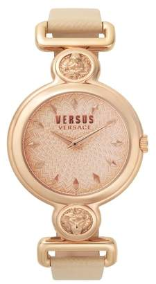 Versace VERSUS VERSUS by Sunnyridge Leather Strap Watch, 34mm