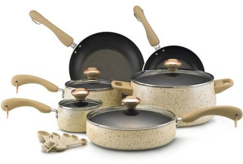 Paula Deen 15-pc. Nonstick Signature Porcelain Cookware Set, Oatmeal
