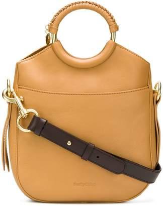 See by Chloe circle handles tote bag