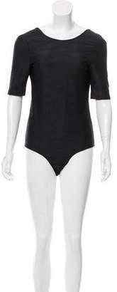 Suzanne Rae Jacquard V-Back Bodysuit w/ Tags