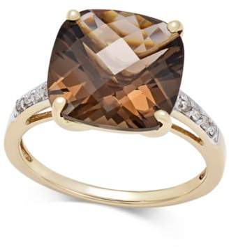 Macy's Smoky Quartz (6-1/2 ct. t.w.) and Diamond Accent Ring in 14k Gold