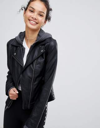 Hollister faux leather jacket