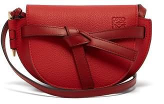 Loewe Gate Mini Grained Leather Cross Body Bag - Womens - Red