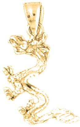Dragon Optical NecklaceObsession Gold-plated 925 Silver 24mm 3D Pendant Necklace