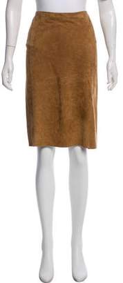 Ralph Lauren Knee-Length Suede Skirt