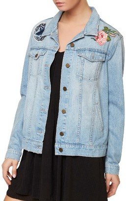 Women's Sanctuary Butterfly Obsessed Denim Jacket $159 thestylecure.com