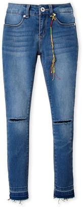 DKNY Girls 7-16) Knee Slit Skinny Jeans
