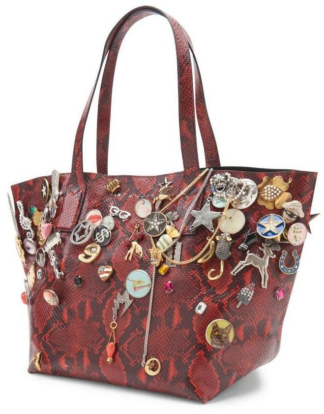 Marc By Marc JacobsMarc By Marc Jacobs Shopping Snake Embellished Wingman Large Bag