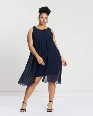 Evans Plain Overlay Short Dress