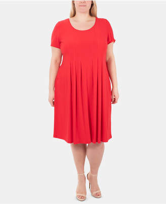 Plus Size Pleated Dresses - ShopStyle