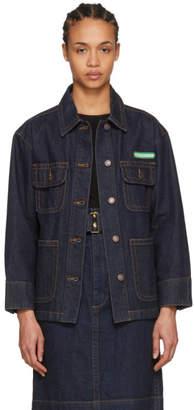 Marc Jacobs Indigo Logo Denim Jacket