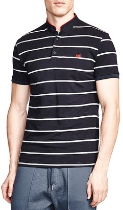 The Kooples Striped Slim Fit Pique Polo $120 thestylecure.com
