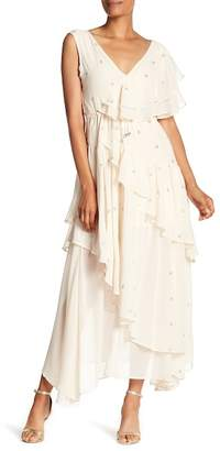 Religion Edge Ruffle Maxi Dress