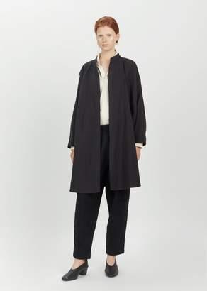 Black Crane Long Square Jacket Black