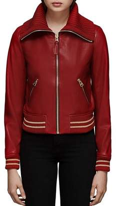 Mackage Krysta Leather Baseball Jacket