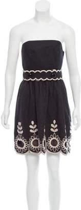 Tibi Strapless Wool Dress