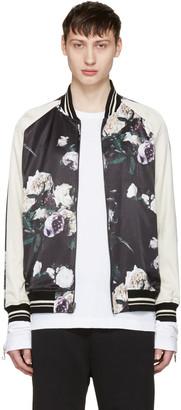 Lad Musician Reversible Multicolor Floral Satin Bomber Jacket $770 thestylecure.com