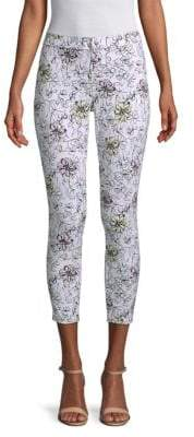 Hue Serrano Floral-Print Cropped Pants