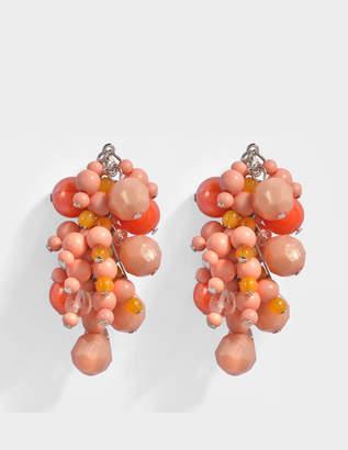 Acne Studios Devra Mono Earring in Peach Glass