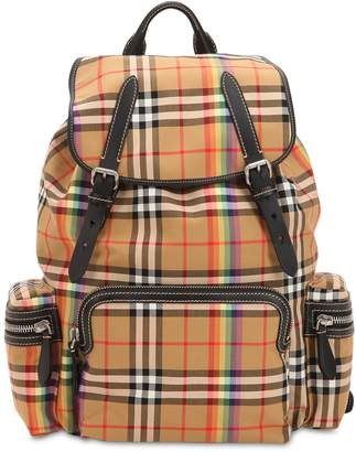 Burberry Check Canvas & Nylon Backpack