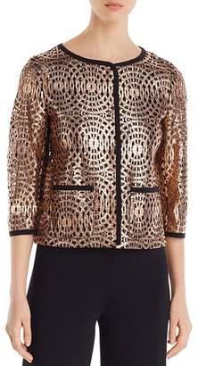 Herno Metallic Lace Blazer