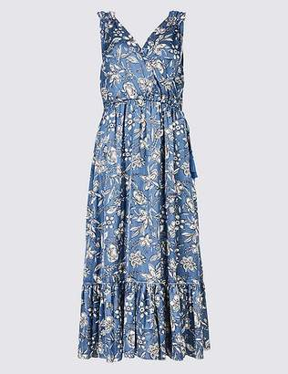 Marks and Spencer Floral Print Satin Slip Maxi Dress