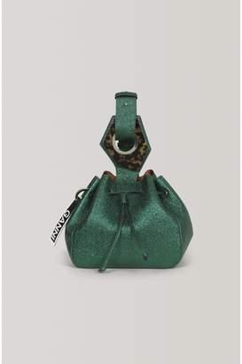 Ganni Leather Small Drawstring Bag