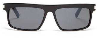 Saint Laurent Square Frame Sunglasses - Mens - Black