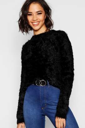 boohoo Feather Knit Fluffy Jumper