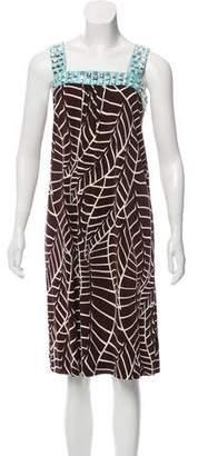 Tory Burch Abstract-Printed Midi Dress