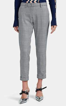 Mason Women's Prince Of Wales Checked Cuffed Slim Trousers