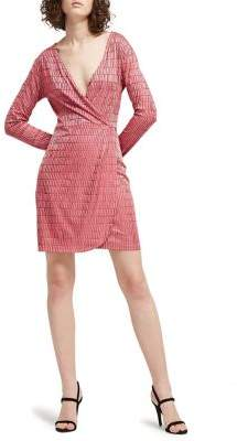 French Connection Linear Jacquard Wrap Dress