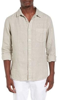 Men's Original Paperbacks Nice Trim Fit Linen Sport Shirt $130 thestylecure.com