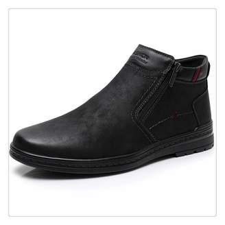 b3a271944 Haiyinqux Sale Boots Cow Suede Men's Winter Ankle Boot Men Warmest Snow  Boots Double Zipper Side