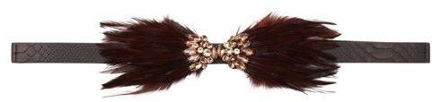 LOFT Jeweled Feather Stretch Belt